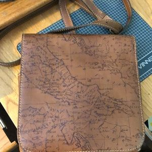 Patricia Nash Granada Map Crossbody EUC!